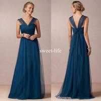 robes de demoiselle d'honneur bleu violet tulle achat en gros de-2018 Convertible bleu vert robes de demoiselle d'honneur pour le mariage sangles transformables qui coule une ligne pourpre demoiselles d'honneur robes de soirée