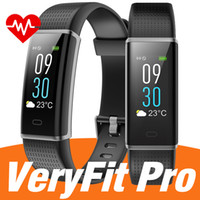 Wholesale pro bracelet resale online - Original ID130C smart watch bracelet ID115 PLUS Wristband Smartwatch Fitness Tracker watchs with App Veryfit pro for men women pk fitbit
