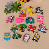 Wholesale early learning - 15pcs lot Cute Fridge Magnets Cartoon Animal Home Improvement Refrigerator Kids Toys Souvenir Early Learning Wall Sticker