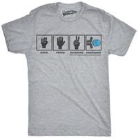 662264177 Mens Rock Paper Scissors Hadouken Tshirt Funny Video Gamer Geek Graphic Tee
