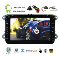Wholesale radio memories - Android 6.0 Car DVD Player 8'' Capacitive Touch Screen Radio Stereo HD 1080p GPS Navigation Multi Player 1G+16G Memory Flash Wifi Vehicle