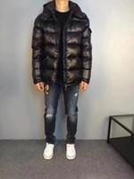 erkekler için kalın kış kıyafetleri toptan satış-Adam Kış Ceket Kayak takım Rahat Kalın Ceket Gerçek Ördek Aşağı Içinde Tüm Etiket Ve Etiket Ile Kapşonlu Hommes Manteau