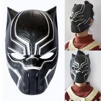 máscara de látex para homens venda por atacado-Máscaras de Pantera negra Filme Cosplay Quatro Cosplay Máscara de Látex Máscara Do Partido Dos Homens Para O Dia Das Bruxas Decoração de Natal WX9-639
