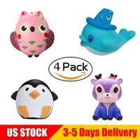 Wholesale owl toys for kids for sale - Jumbo Squishes Pack Animal Collection Owl Penguine Deer Whale Slow Rising Bread Kawaii Scented Squishy Toys for Kids US STOCK SBC