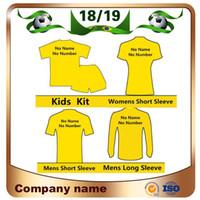 sterben kit großhandel-18/19 Club-Team Top-Qualität Fußball-Trikot 2019 Jeder Mann Frau Kinder Kit Fußball Shirts Lassen Sie die Nachricht des Teams anpassen Fußball-Uniform
