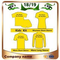 camisas de futebol personalizadas venda por atacado-18/19 Clube equipe de Futebol de alta Qualidade Jersey 2019 Qualquer Homem Mulher Crianças Kit De Futebol Camisas Deixar a mensagem da equipe personalizar uniforme de futebol