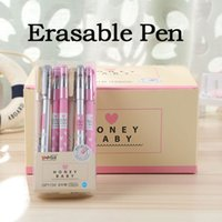 Wholesale cute erasable pen for sale - Group buy 4 set mm Cute Heart Dots Erasable Pen Blue Black Ink Magic Ballpoint Pen Writing School Chancery Supplies Stationery