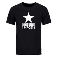 Wholesale David Bowie T Shirt - David Bowie Blackstar Ziggy T Shirts Men Short Sleeve David Bowie Memory T-shirt Summer Rock And Roll Men Funs T-shirt DIY-0692D