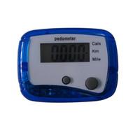 schrittzählerberechnungen groihandel-Mini LCD Schrittzähler Schritt Walking Schrittzähler Gürtelclip Schritte Count Distance Calculation Counter Digitale Schrittzähler