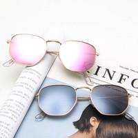 copos harajuku venda por atacado-Metal moda óculos de sol coloridos retro Harajuku óculos de sol Homens e mulheres selvagens óculos ultra-leves personalidade óculos de sol Atacado