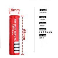kameras und batterien großhandel-Beste Qualität Akku Ultrafire 18650 Li-Ion Akku 3,7 V 4200 mAh wiederaufladbar für LED Taschenlampe Digitalkamera
