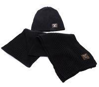 bufandas gruesas de invierno para hombres. al por mayor-Nuevo diseño de punto de invierno sombrero bufanda guantes conjunto hombres grueso algodón gorros y anillo bufanda femenina de punto invierno accesorios regalo