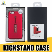 Wholesale iphone g7 for sale - Group buy Finger Ring Holder Kickstand Hybrid Case Cover for iPhone Xs Max XR LG Stylo MOTO G7 Power Huawei P30 with Retail Packaging