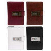 notizbuch verwenden großhandel-OOTDTY Hohe Qualität Retro Notebook Vintage Retro A7 Codebuch Journal Tagebuch Mit Passwortsperre Für Büro Schule Verwenden
