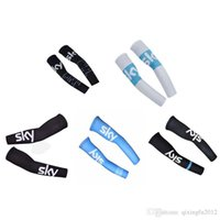 Wholesale team sky pro - New SKY 2018 Unisex pro Racing team Bike Arm Warm Cycling Arm Warmers Bicycle Riding Arm Sleeves Outdoor Bike Bicycle Cover F2913