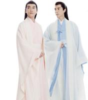 çin ulusal kostüm kadınları toptan satış-2018 yaz erkekler antik kostüm erkek çin halk dansları kostüm yetişkin çin ulusal sahne cospaly tang giyim kadın hanfu