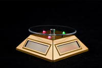 döner ışık stand led toptan satış-Fabrika Elektronik LED ile güneş döner ekran standı klasik mücevher izle gözlük sergi için yararlı vitrin