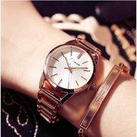 женщины смотрят большие циферблаты оптовых-Top  KIMIO Gold  Bracelet Women's Watches Business Fashion Ladies Clock Casual Big Dial Quartz Watch Female Montre
