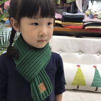 вязаные шарфы цвета оптовых-2018 Winter baby Scarf Fashion Knitted Girl Scarves Cotton Warm Thick Kids 10 Colors Knitting Infinity Muffler Scarves