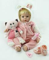 Wholesale Silicone Dolls Cheap - 55cm Hot sale cheap dollar Victoria adora Lifelike newborn Baby Bonecas Bebe kid toy cute girl silicone reborn baby dolls