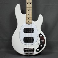 Wholesale bass pickups strings for sale - Group buy Music Man Strings Ernie Ball StingRay White Electric Bass Guitar Ash Body Maple Neck Fingerboard HH Active Pickups V Battery Box