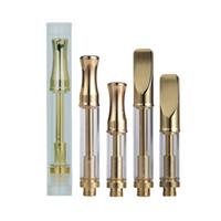 latón dorado al por mayor-Cartucho de vidrio Pyrex 92a3 Pluma vaporizadora Kingpen Brass Knuckles Cartuchos dorados Para extracción de aceite EVOD Mix2 batería Imini ECT Mico Mod