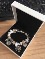 aşk için hediye toptan satış-Yeni Lüks Tasarımcı Charm Kadınlar Için 925 Gümüş Bilezikler Hayat Ağacı Kolye Bileklik Hediye olarak Aşk Charm boncuk Diy D ...