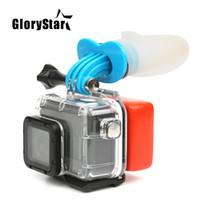 kamera pro held schwarz großhandel-Action Camera Surf Mouth Mount für GoPro Hero 5 6 4 3 Schwarz Silber Sitzung Xiaomi 4K SJCAM SJ7 H9 Go Pro Surfing-Zubehör