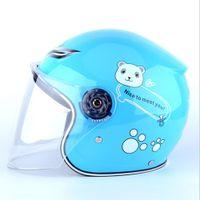 capacetes preço venda por atacado-Capacetes de Motocicleta Venda de Apuramento Preço Mais Barato Crianças Capacetes de Bebê Seguro Rosto Cheio Crianças Motocicleta Bicicleta Muffler Dos Desenhos Animados