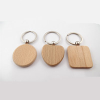 Wholesale keychains children wholesale - DIY Wood Material Key Buckle Self Depict Interesting Keys Ring Many Shape Creative Keychain For Children Adult Gifts Charms 2sc Z