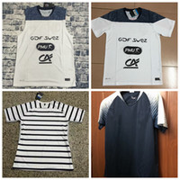 Wholesale football training vests - Top Thai Quality White France Soccer jerseys training vest Sports casual football T shirts S-2XL