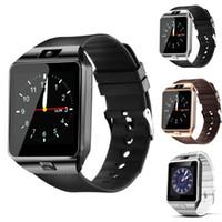 ücretsiz hücre saatleri toptan satış-Smartwatch 2017 Son DZ09 Bluetooth Akıllı Izle Desteği SIM Kart Apple Samsung IOS Android Cep telefonu Için 1.56 inç Ücretsiz DHL smartwatches