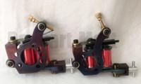 Wholesale iron tattoo coil - Cast Iron Tattoo Machine Gun Set Liner 8 Wrap Coils Steel Tattoo Gun For Tattoo Power Kit Set Free Shipping