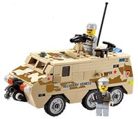 Wholesale kazi toys - KAZI 84026 DIY Armored Personnel Carrier Building Block playmobil Educational Jigsaw DIY Construction Bricks Toys