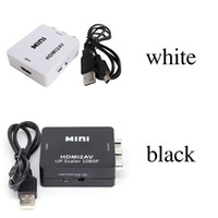 Wholesale bnc rca adapters resale online - HDMI2AV P HD Video Adapter mini HDMI to AV Converter CVBS L R HDMI to RCA For Xbox PS3 PC360 With retail packaging Top Quality