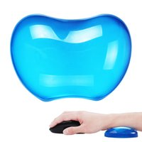 Wholesale silicon mouse - Gel Mouse Wrist Rest Cool Crystal Non-Slip Human Engineering Protection For Rsi Carpal Tunnel Bigger Size 3 Clolors