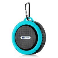 Wholesale Usb Removable - Bluetooth 3.0 Wireless Speakers Waterproof Shower C6 Speaker with 5W Strong Driver Long Battery Life and Mic and Removable Suction Cup