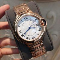 Wholesale whosale women - 2018 Brand New clock Luxury Women Watch Men Stainless steel WristWatch AAA Unisex Watches Rose gold color lovers clock whosale free shipping