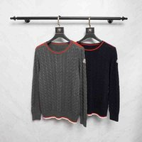 4578d3780d 18ss Fashion sweater Pullover men s designer sweaters long Sleeve Neckline  red stripes 3D weaving sweater Knitwear Winter New Mens Clothing