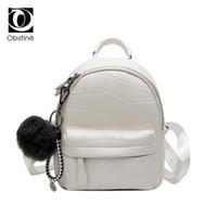 sevimli mini sırt çantaları toptan satış-Mini Backpacfor Kadınlar Deri PU Sevimli Sırt Çantası Küçük Sırt Çantası Kadın Beyaz Bagpack için Kadın Moda Siyah Geri Paketi Çantası Lady