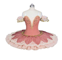 Wholesale spandex fairy costume online - adult Peach Fairy professional ballet costumes for women ballerina girls performance pancake tutu dress adult ballet tutu costume BT9026