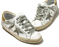 плоская обувь korea новый оптовых-Новая Италия мода Марка обувь modelK59 высокое качество кожа ручной работы белые туфли Корея популярные кроссовки мужчины и женщины eu34-46 размер плоские туфли