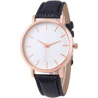 Wholesale wholesale watches online - Fashion simple design Unisex mens women lady students leisure leather watches casual dress quartz sport wrist watches for men women