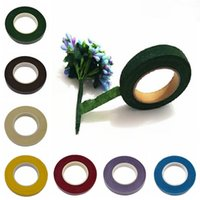 Wholesale Wholesale Artificial Wreath Supplies - 1pc DIY Paper Craft Artificial Flower Wrapping Tapes 30 Yard 12mm Self-adhesive Paper Tape Flower Stem Garland Wreaths Supplies