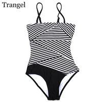 Wholesale brazilian bikini set xs - Trangel one piece women swimsuit 2017 bikini brand stripe women swimwear swimsuit brazilian push up monkini set