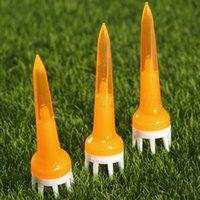 ingrosso arancione tees di golf-50 pezzi di plastica arancione Golf Crown Booster Tees 50mm attrito Ridurre Tee
