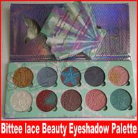 Wholesale beauty dreams - New Makeup Bittee Lace Beauty 10 Colors Mermaid Dreams Diamond Bundle Eyeshadow Palette high quality free shipping