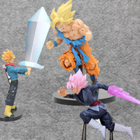 Wholesale dragonball toys resale online - Dragonball Super X Soul Black Goku trunks figura Fighting style dragon ball Z son gokou jump Action Figure Collectible Model Toy