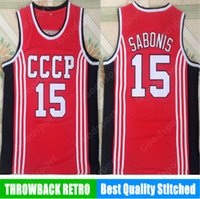39bb1c412529 Russia Sabonis 15 Jerseys Jersey Mens Throwback Basketball Jersey retro  Vintage stitched Shirt Classic european Collection SPORT HOT 19