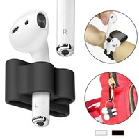 Wholesale work bluetooth headset - Portable Anti-lost Holder For Airpods i7s Afans I8 Wireless Headset Silicone Holder EarPhone Case Accessory For Airpods Work With Watch Band